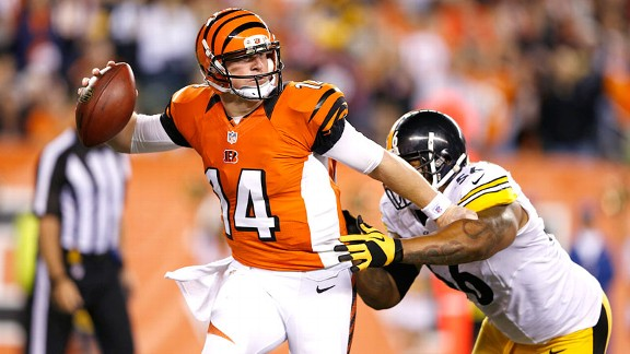 Andy Dalton and LaMarr Woodley