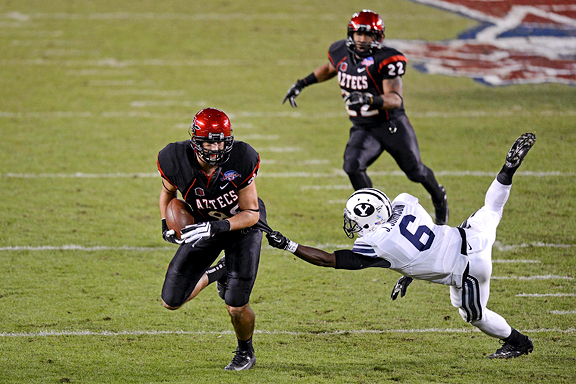 Gavin Escobar with San Diego State vs. BYU Cougars