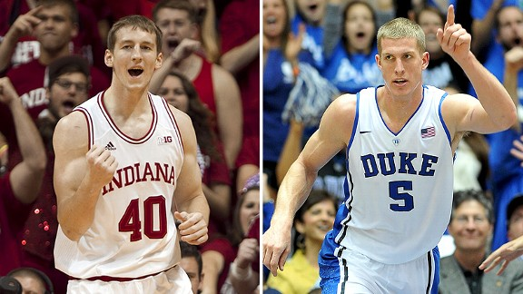 Cody Zeller and Mason Plumlee