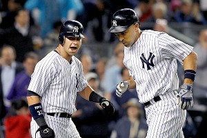Nick Swisher and Raul Ibanez
