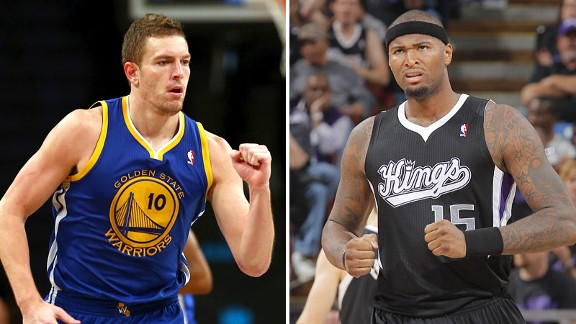 David Lee and DeMarcus Cousins