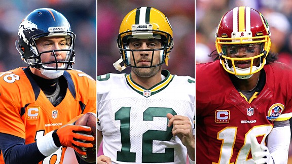 Peyton Manning, Aaron Rodgers & Robert Griffin III