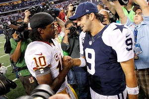 Robert Griffin III and Tony Romo