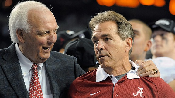 Mal Moore's fifth coaching hire at Alabama, Nick Saban, has the Crimson Tide in arguably the strongest position they've ever had, with three national championships in the last four seasons.