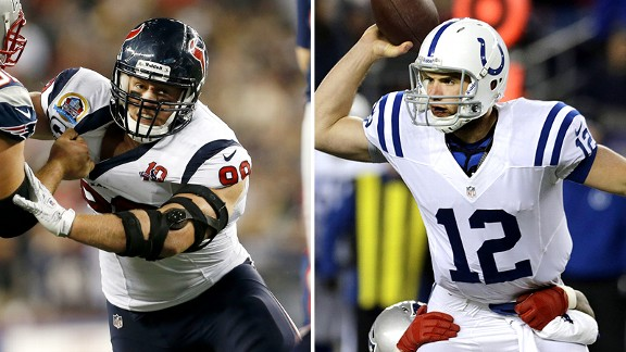 Andrew Luck and J.J. Watt
