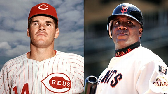 Pete Rose and Barry Bonds