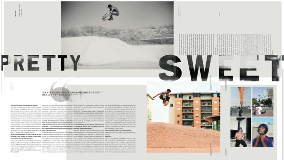 Monster Children, in the spirit of designer David Carson, are pushing the limits of skate magazines.