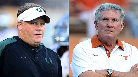 Chip Kelly and Mack Brown