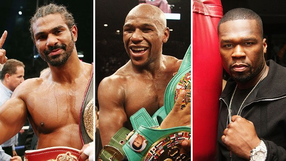 David Haye, Floyd Mayweather and 50 Cent