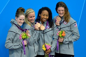 Missy Franklin, Jessica Hardy, Lia Neal, Allison Schmitt