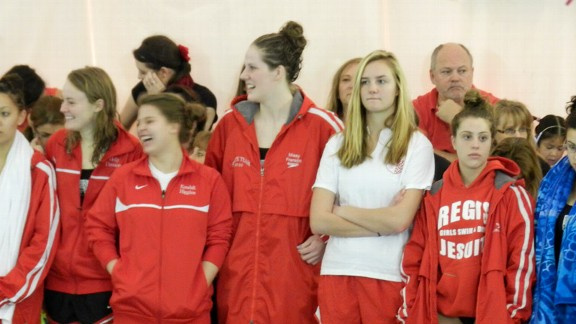Missy Franklin was worried about the distraction her presence on her Regis Jesuit team would cause, but ultimately decided to swim her senior season with teammates she calls sisters.