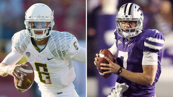 Marcus Mariota and Collin Klein
