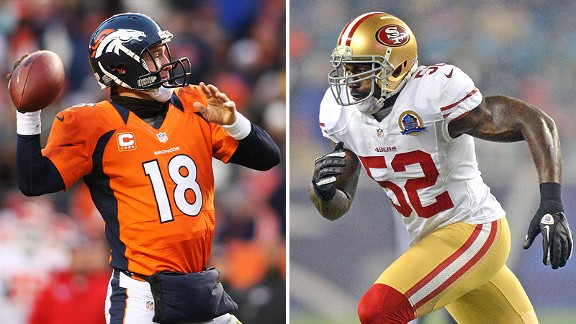 Peyton Manning and Patrick Willis