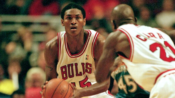 Ron Artest (Metta World Peace) of the Chicago Bulls in 1999