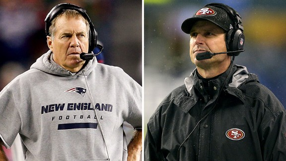 Bill Belichick, Jim Harbaugh