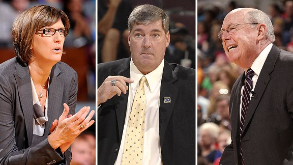 Anne Donovan, Bill Laimbeer, and Mike Thibault