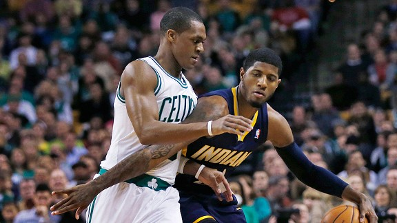 Rajon Rondo and Paul George