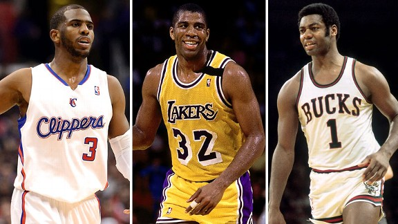Chris Paul, Magic Johnson, Oscar Robertson