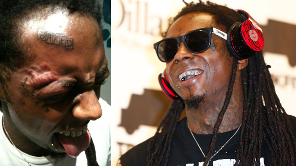 lil wayne adds skate brand tattoos to his face