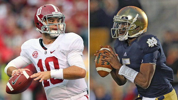 AJ McCarron and Everett Golson