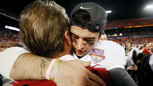 AJ McCarron and Nick Saban