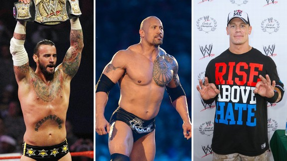 CM Punk, Dwayne Johnson, John Cena
