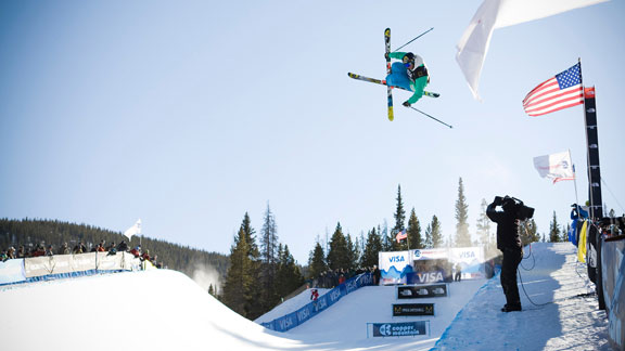 David Wise competing at last year's U.S. Grand Prix at Copper.
