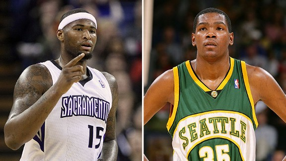 DeMarcus Cousins and Kevin Durant