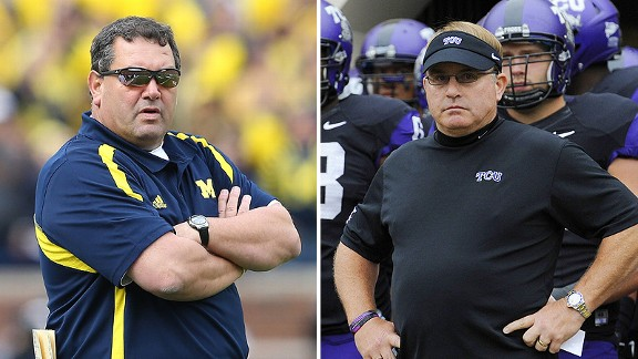 Brady Hoke and Gary Patterson