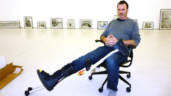 Recovery from a broken leg hasn't slowed down Ed Templeton from charming the art world.