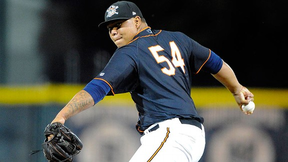 22-year-old rookie Bruce Rondon is the Detroit Tigers' likely closer this season.