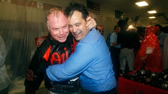 Buck Showalter and Dan Duquette