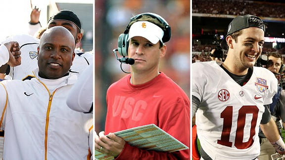 Darrell Hazell, Lane Kiffin and AJ McCarron