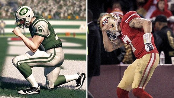 Madden Tebowing-Kaepernick