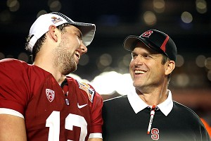 Andrew Luck and Jim Harbaugh