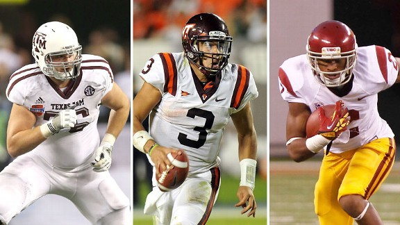 Luke Joeckel, Logan Thomas and Robert Woods