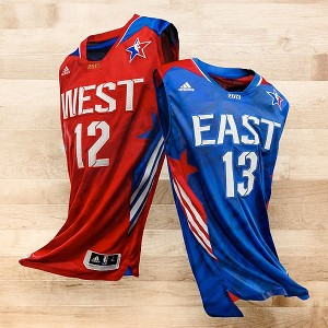 NBA all-star uniforms released