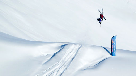 Sage Cattabriga Alosa At The 2013 Red Bull Linecatcher In Les Arcs France