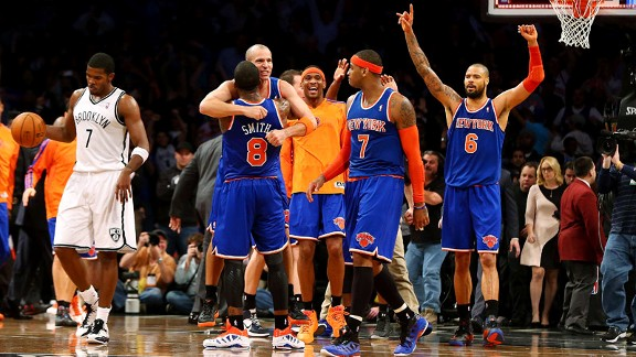 Joe Johnson, Jason Kidd, J.R. Smith, Carmelo Anthony, Tyson Chandler