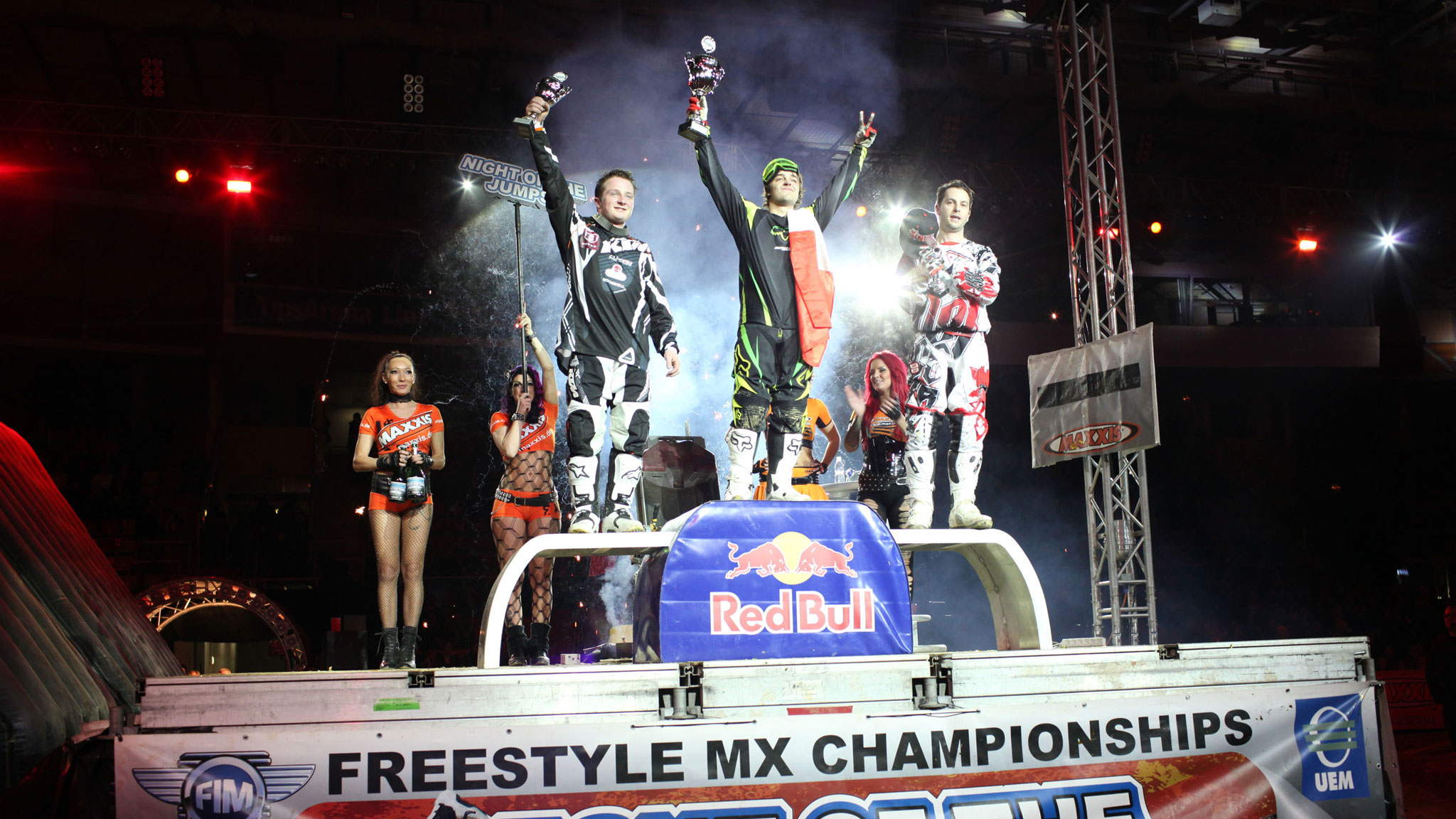 The podium at the UEM FMX series opener in Austria.