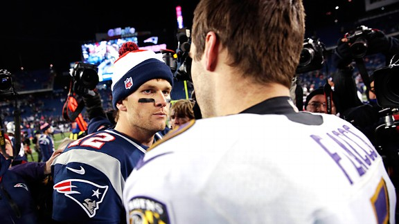 Tom Brady and Joe Flacco