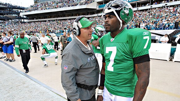 Marty Mornhinweg and Michael Vick