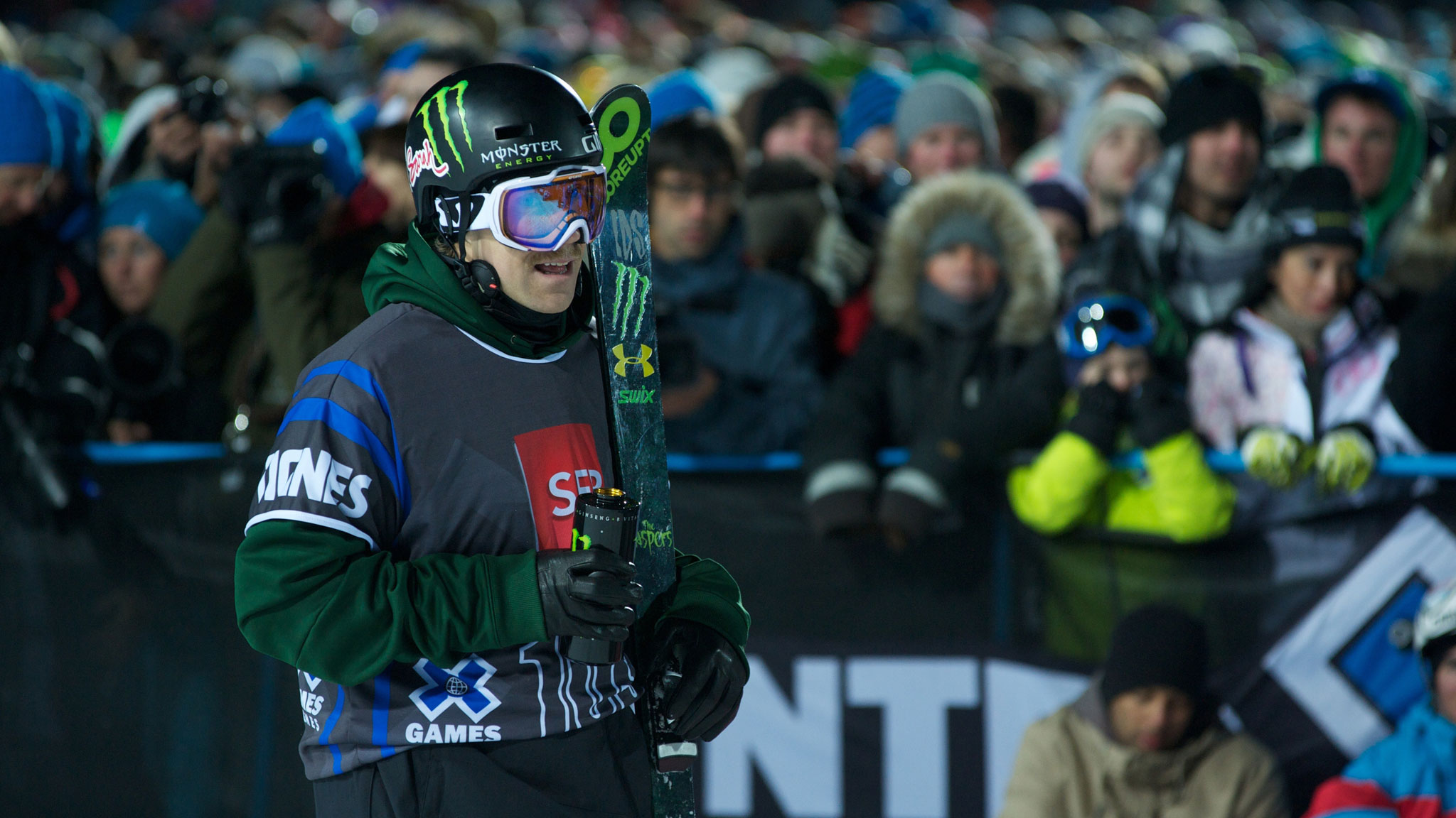 Justin Dorey won't be competing this week at X Games Aspen due to a shoulder injury.