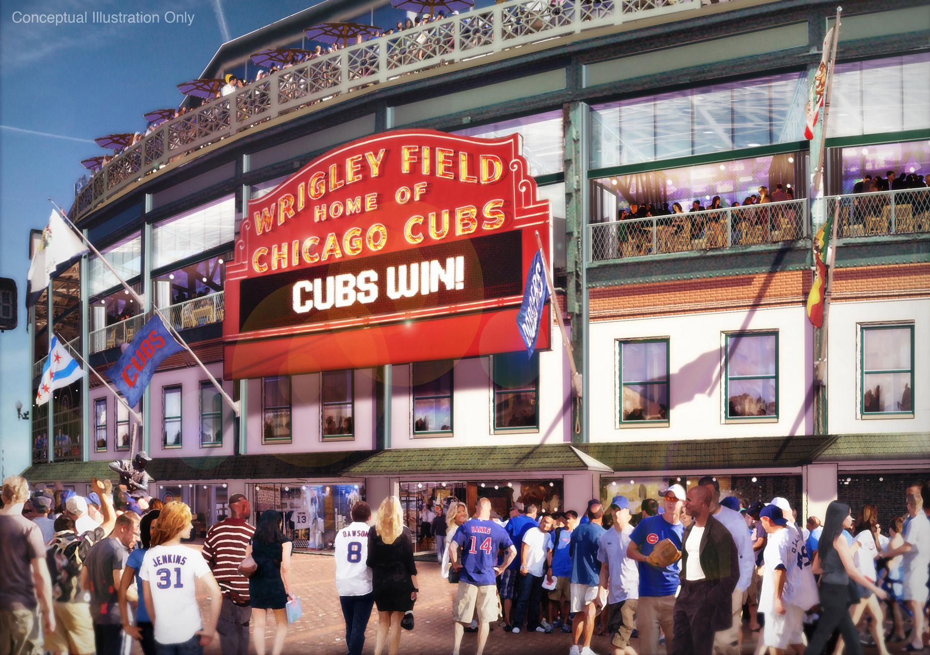Wrigley Renderings Cubs Locker Room Proposed Wrigley Field - Chicago map showing wrigley field