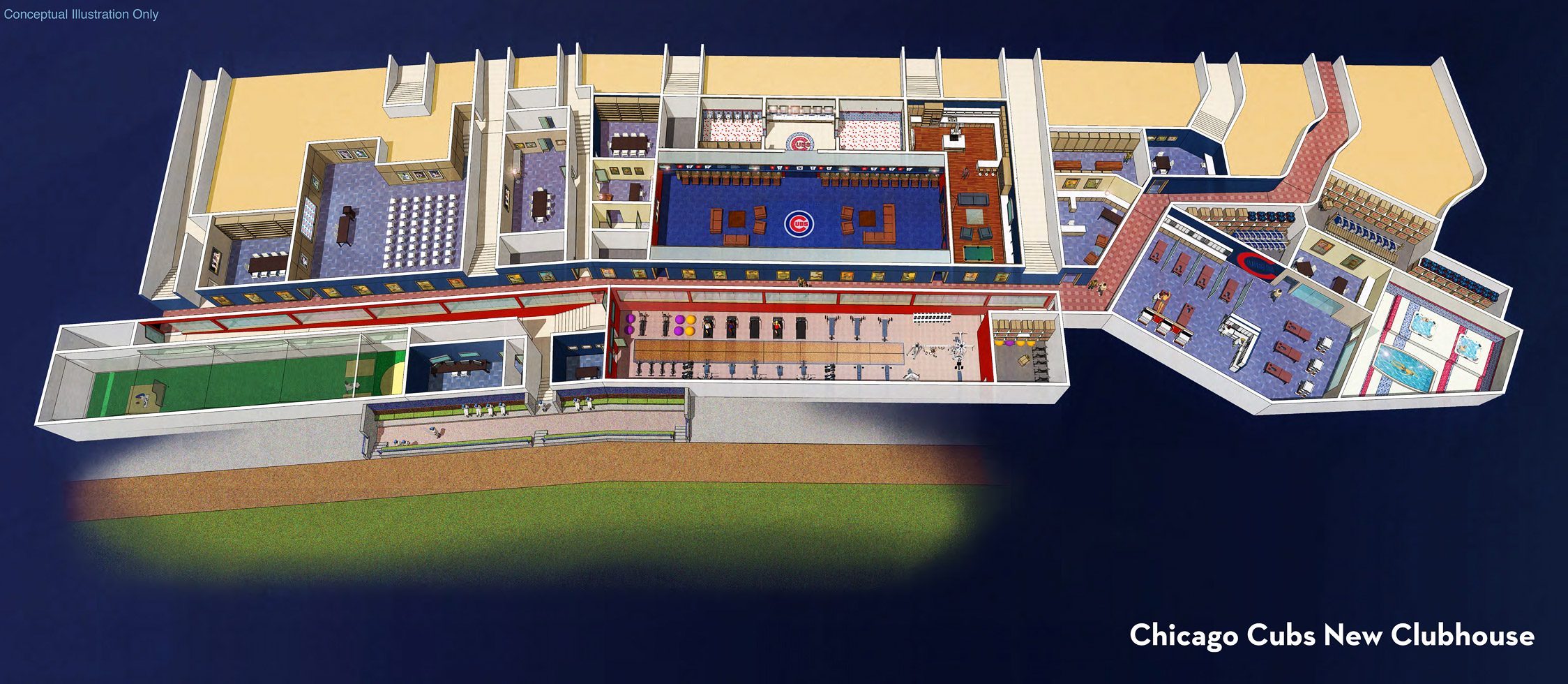 wrigley renderings clubhouse overview proposed wrigley