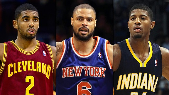 Kyrie Irving, Tyson Chandler & Paul George