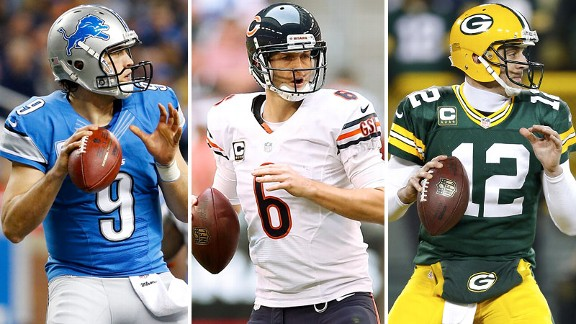 Matthew Stafford, Jay Cutler, Aaron Rodgers