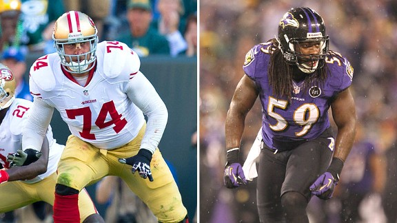 Joe Staley and Dannell Ellerbe