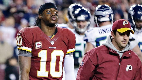 Robert Griffin III against the Seattle Seahawks