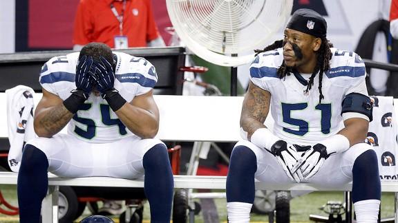 The Seattle Seahawks against the Atlanta Falcons
